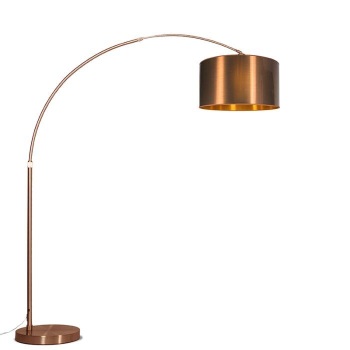 Moderne-booglamp-koper-met-koperen-kap---Booglamp-XXL