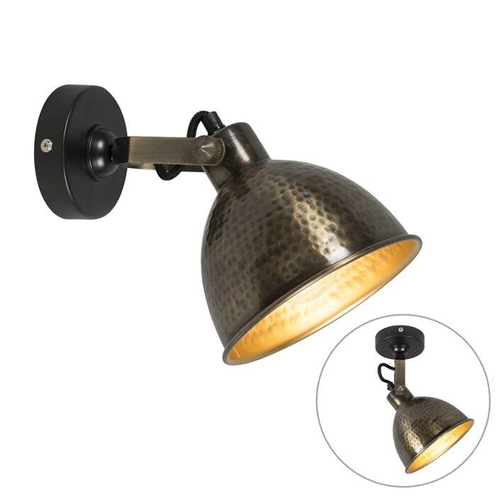 Wandlamp-koper-met-messing-verstelbaar-19,5-cm---Liko