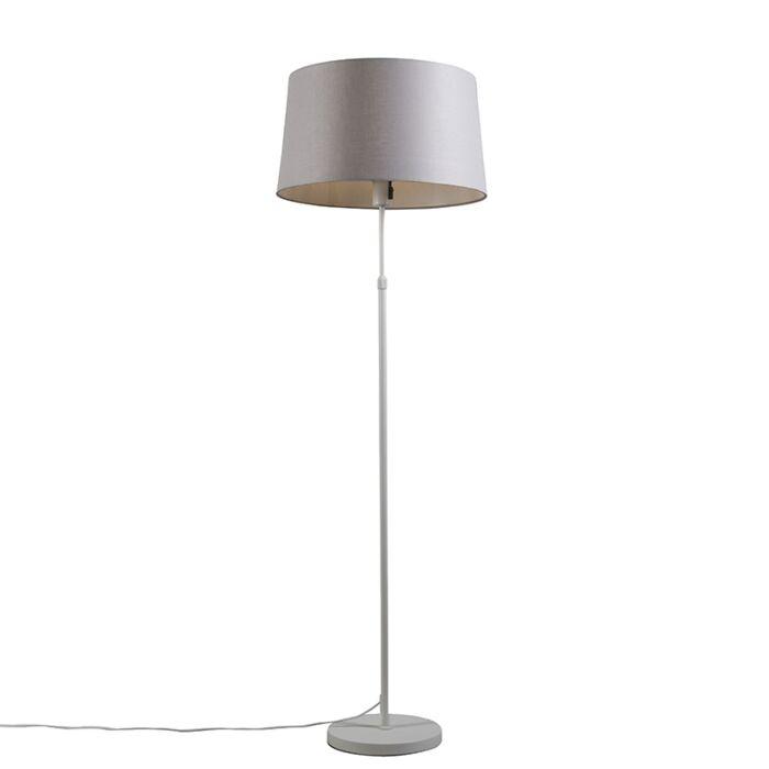Vloerlamp-wit-met-kap-lichtgrijs-45-cm-verstelbaar---Parte