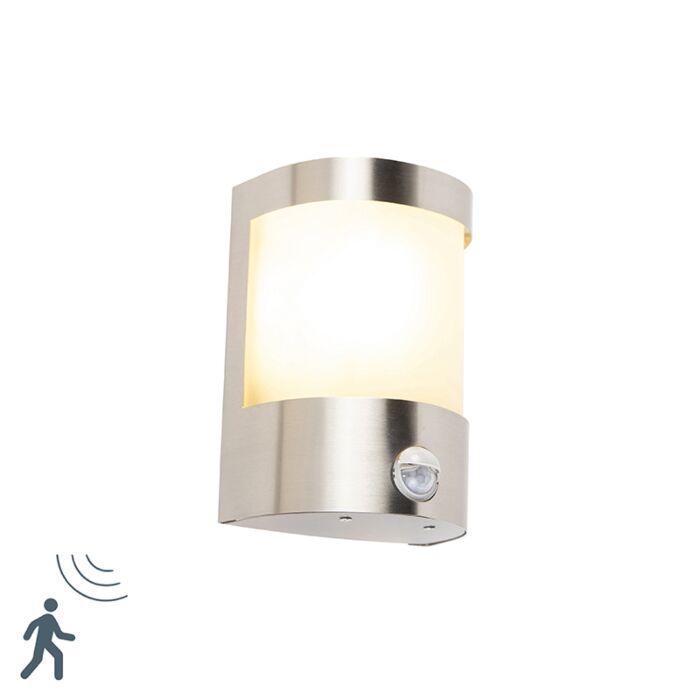 Moderne-buitenwandlamp-RVS-bewegingssensor-IP44---Mira