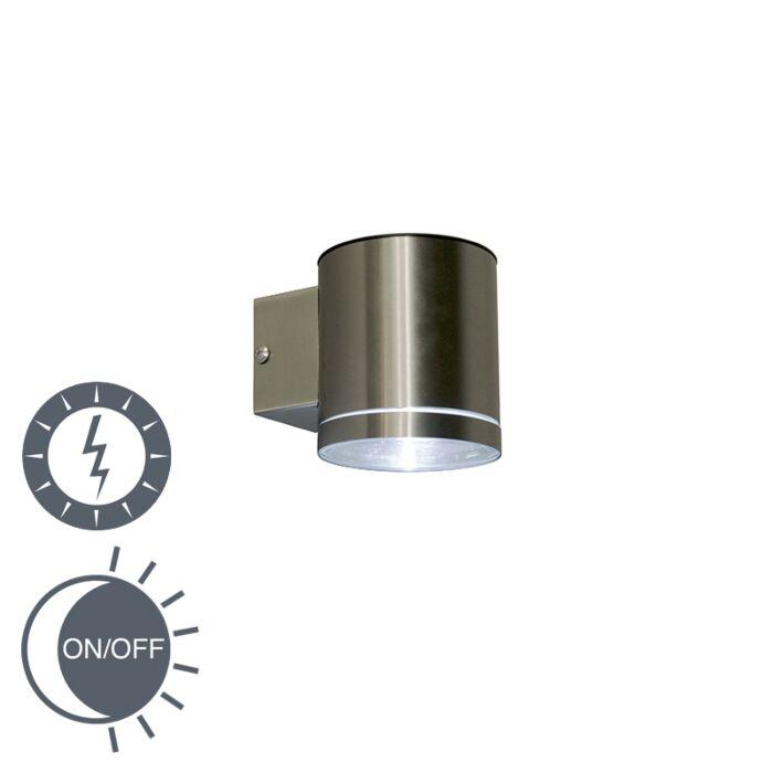 Buitenwandlamp-staal-incl.-LED-op-zonne-energie-IP44---Eta