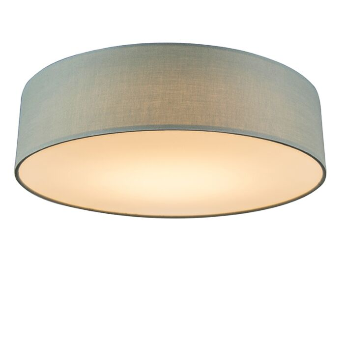 Plafondlamp-groen-40-cm-incl.-LED---Drum-LED