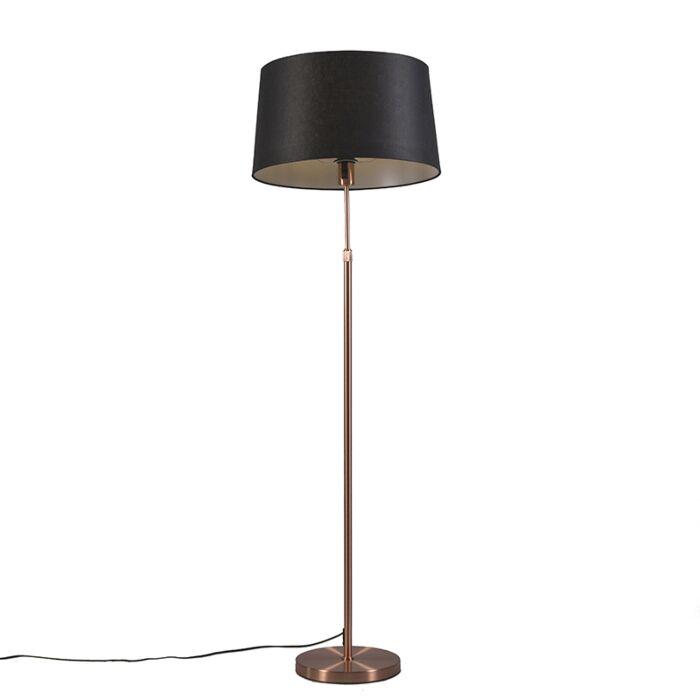 Vloerlamp-koper-met-kap-zwart-45-cm-verstelbaar---Parte