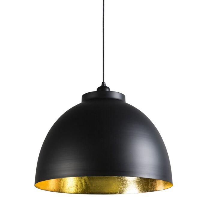 Hanglamp-Hoodi-zwart-goud
