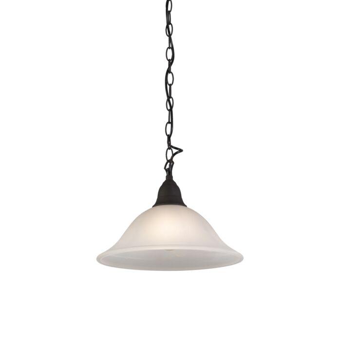 Landelijke-hanglamp-roestbruin-met-glas---Dallas-1