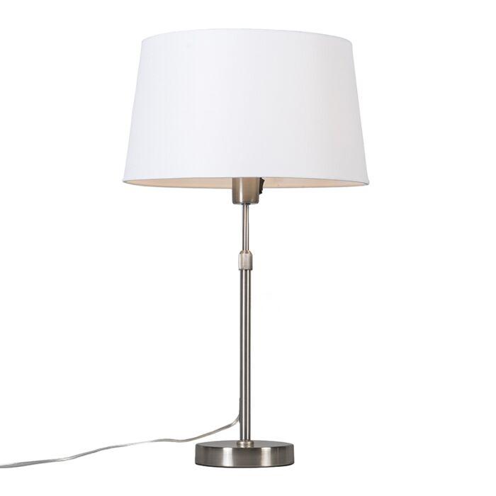 Tafellamp-staal-met-kap-wit-35-cm-verstelbaar---Parte
