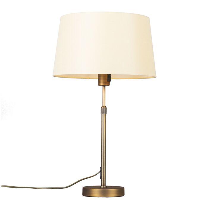 Tafellamp-brons-met-kap-geel-35-cm-verstelbaar---Parte