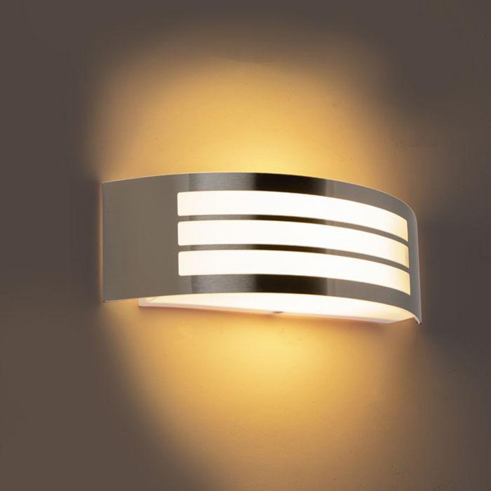 Moderne-wandlamp-staal-RVS-IP44---Sapphire-Deluxe