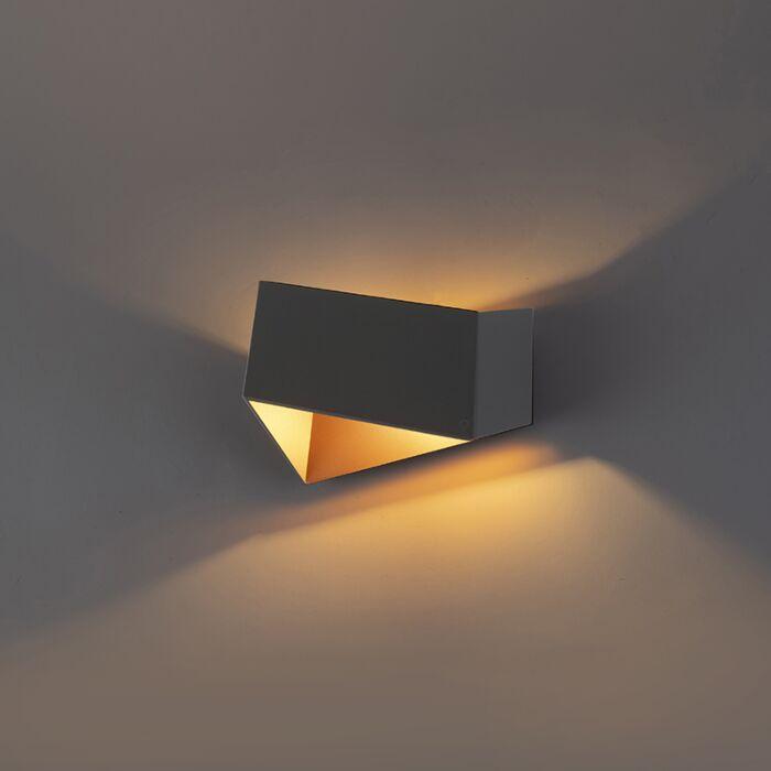 Wandlamp-Fold-grijs-met-koper