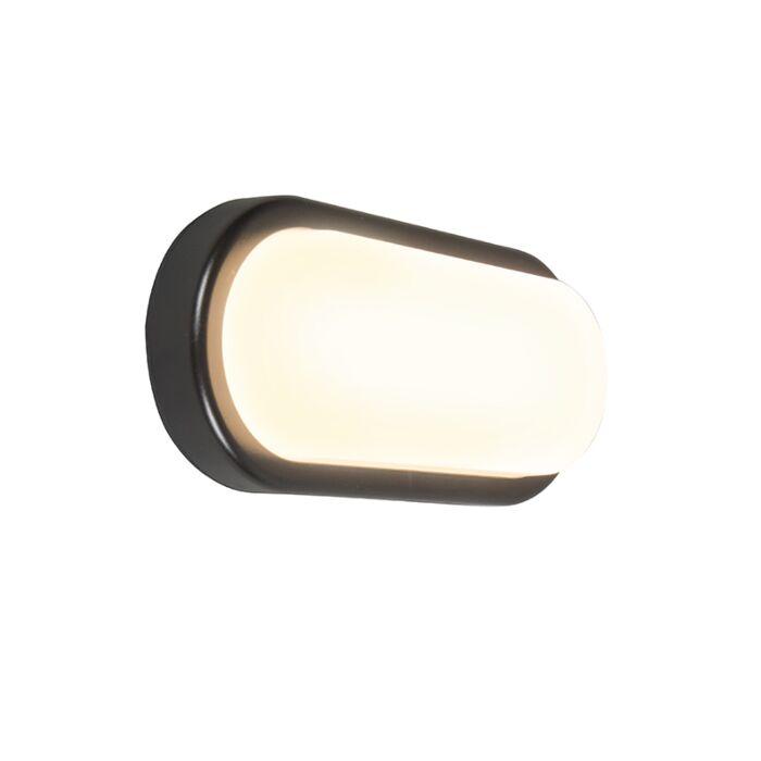 Wandlamp-United-18W-ovaal-zwart