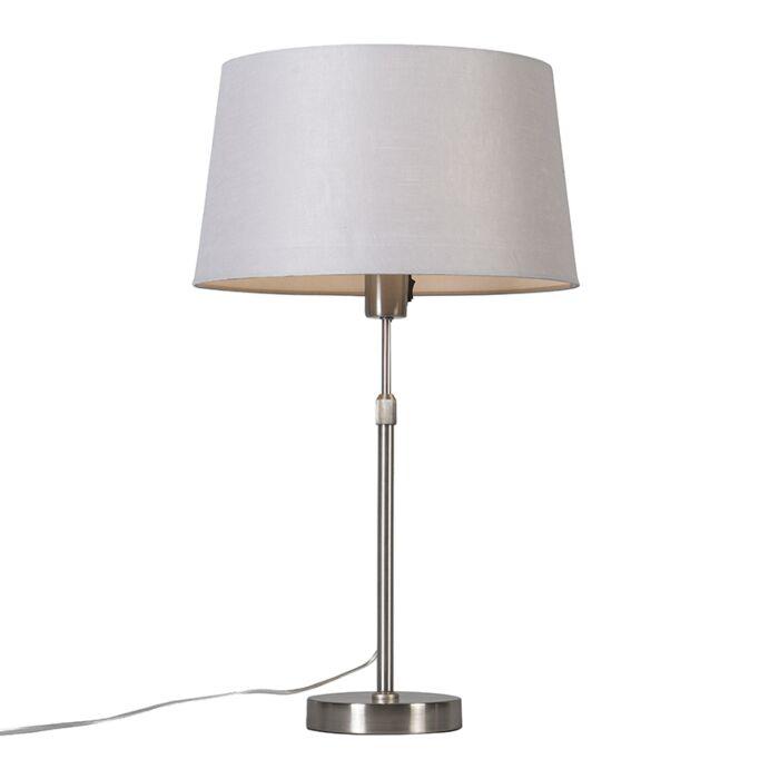 Tafellamp-staal-met-kap-lichtgrijs-35-cm-verstelbaar---Parte