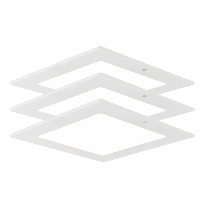 Inbouwspot-Radem-vierkant-9W-set-van-3