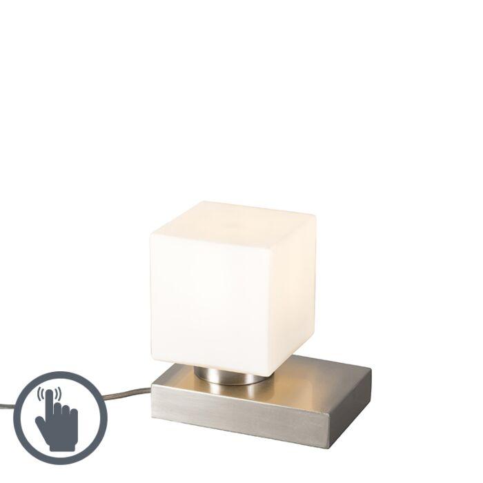 Tafellamp-Stol-staal-vierkant-met-touch
