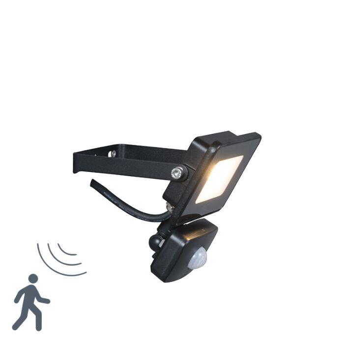 LED-straler-zwart-incl.-LED-met-bewegingsmelder---Radius-1