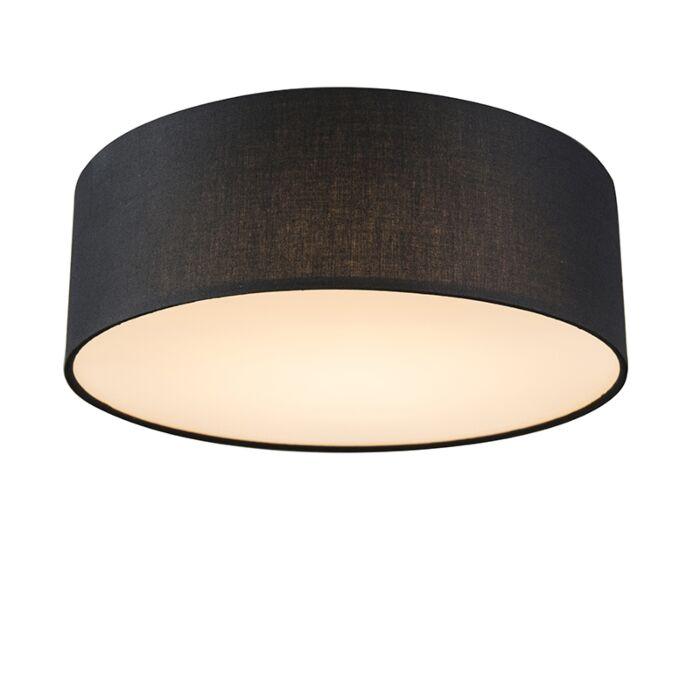 Plafondlamp-zwart-30-cm-incl.-LED---Drum-LED