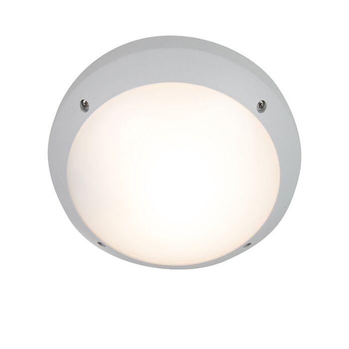 Moderne-wand--en-plafondlamp-grijs-IP65---Gelmi