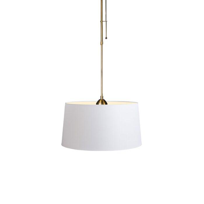 Hanglamp-Mix-1-brons-dimmer-met-kap-45cm-wit