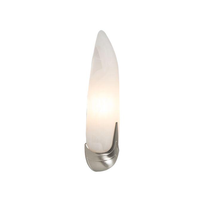 Wandlamp-Matteo-albaster-glas-met-nikkel