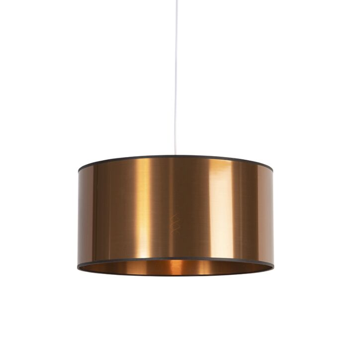 Art-Deco-hanglamp-wit-met-koperen-kap-50-cm---Pendel