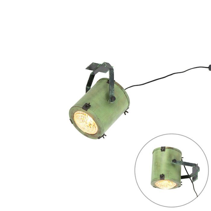 Vintage-filmspot-wand--en-plafondlamp-groen---Brooke