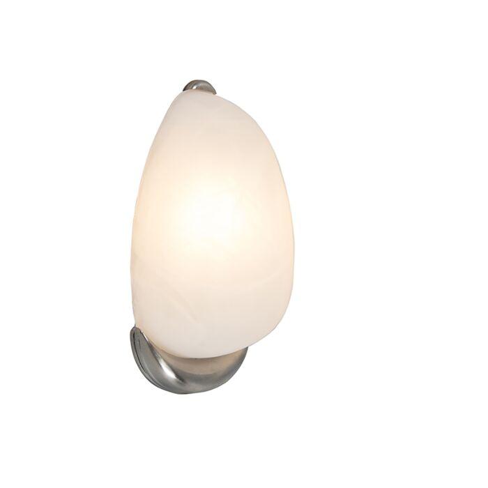 Wandlamp-Dante-albaster-glas-met-nikkel
