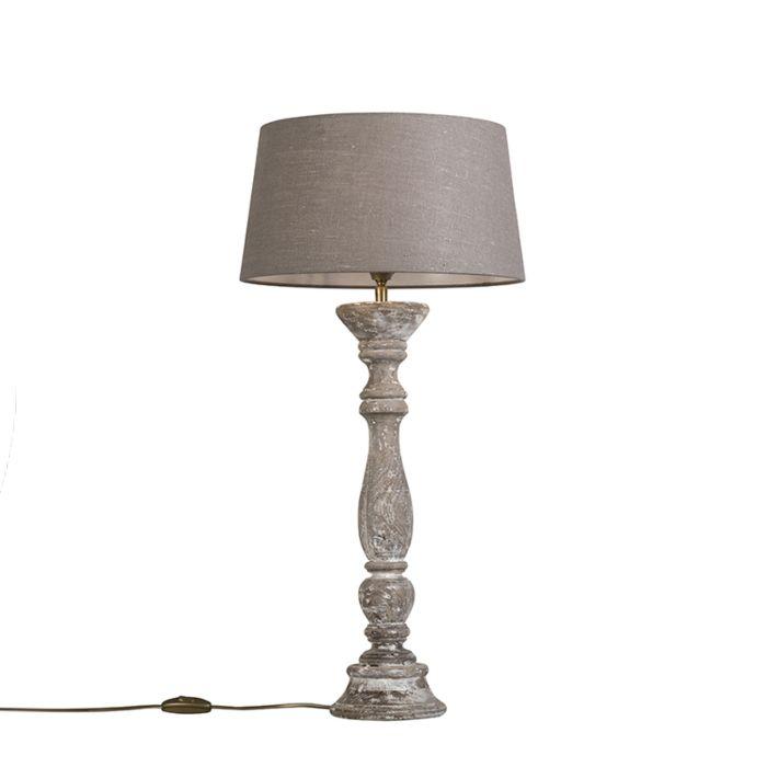 Tafellamp-Ritual-wit-met-kap-35cm-oud-grijs
