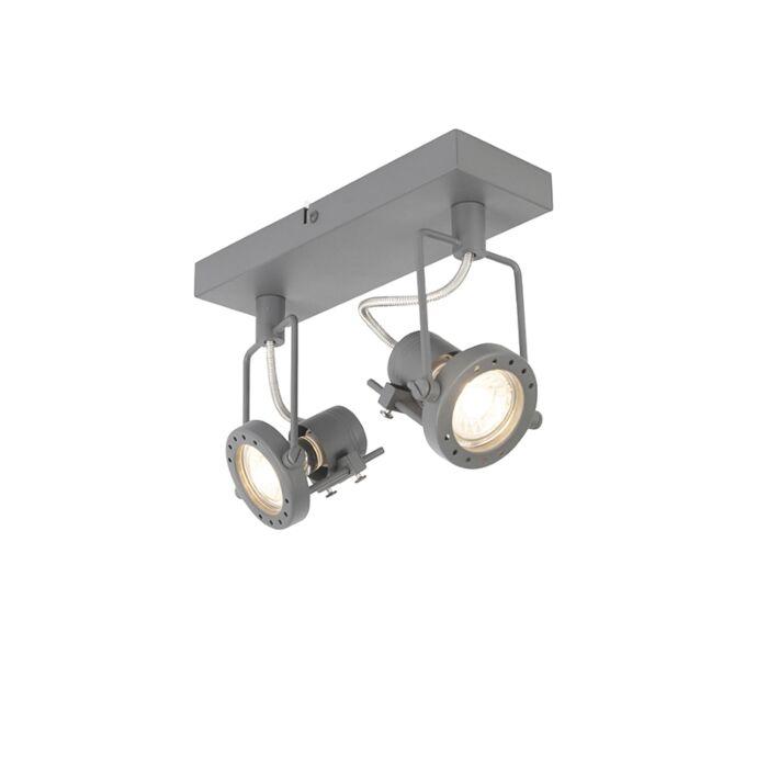 Industriële-spot-antraciet-2-lichts-draai--en-kantelbaar---Suplux