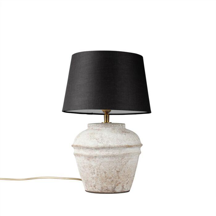 Tafellamp-Arta-XS-scotch-met-kap-25cm-zwart