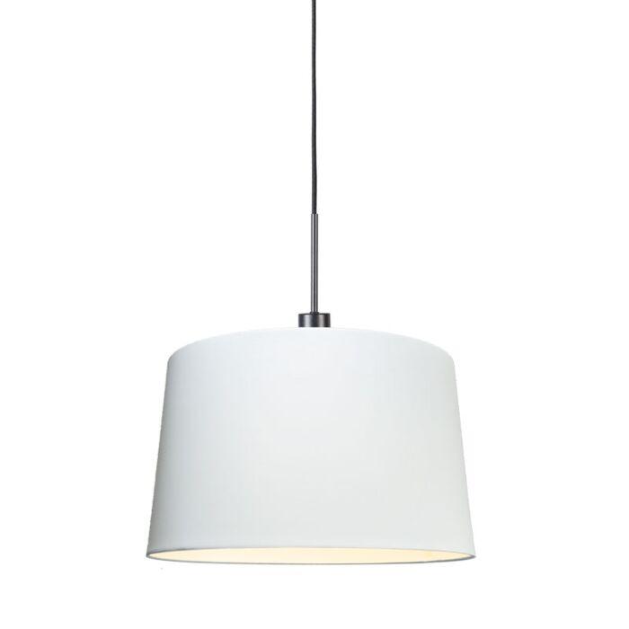 Moderne-hanglamp-zwart-met-kap-45-cm-wit---Combi-1