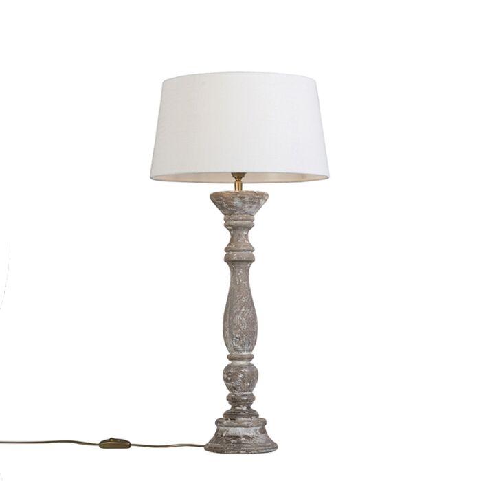 Tafellamp-Ritual-wit-met-kap-35cm-wit