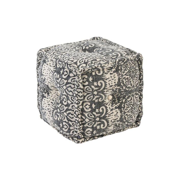 Oosterse-vierkante-poef-40x40-grijs---Mumbai