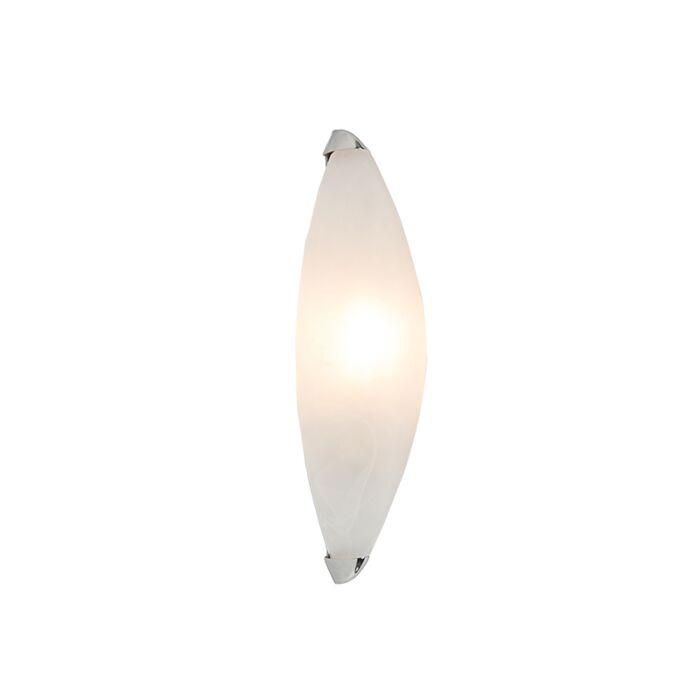 Wandlamp-Rigo-albaster-glas-met-chroom