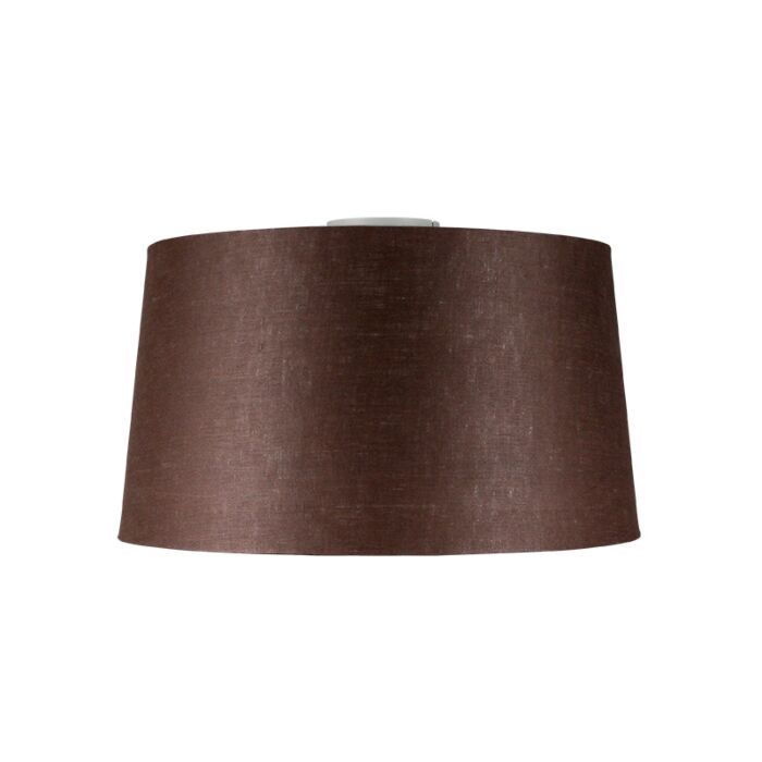Plafondlamp-Combi-mat-wit-met-kap-45cm-bruingrijs