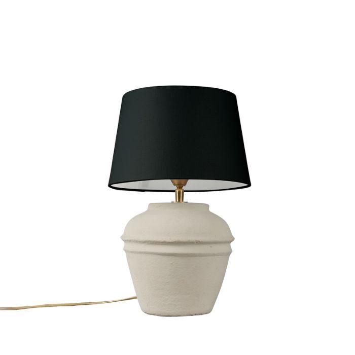 Tafellamp-Arta-XS-grijs-met-kap-25cm-zwart