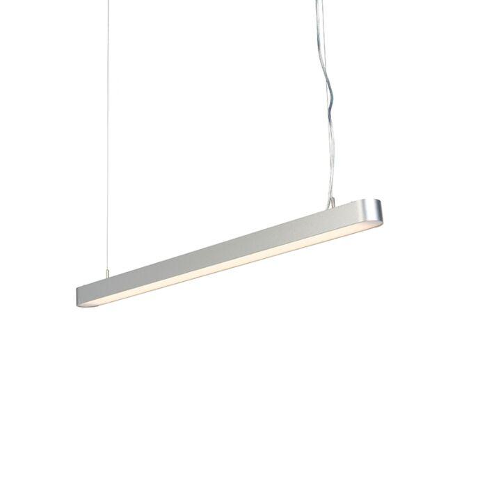 Moderne-langwerpige-hanglamp-zilver-100cm-incl.-LED---Duct-R