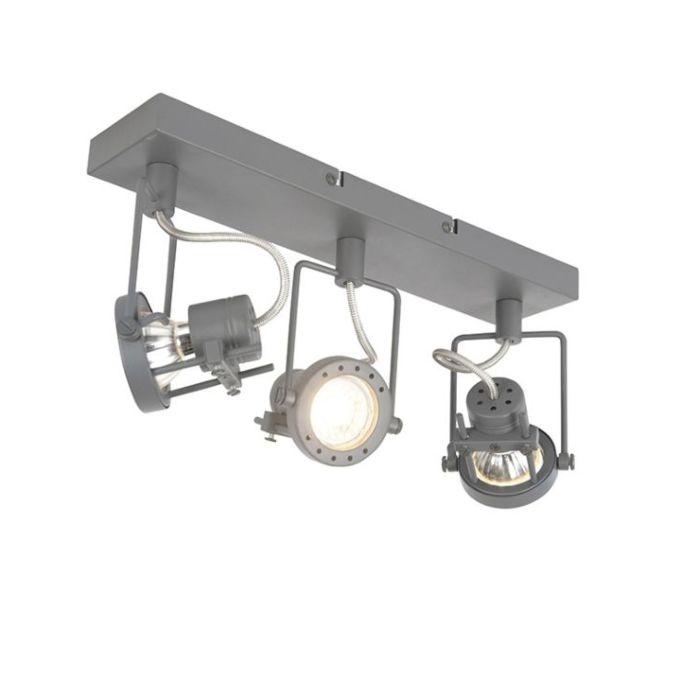 Industriële-spot-antraciet-3-lichts-draai--en-kantelbaar---Suplux