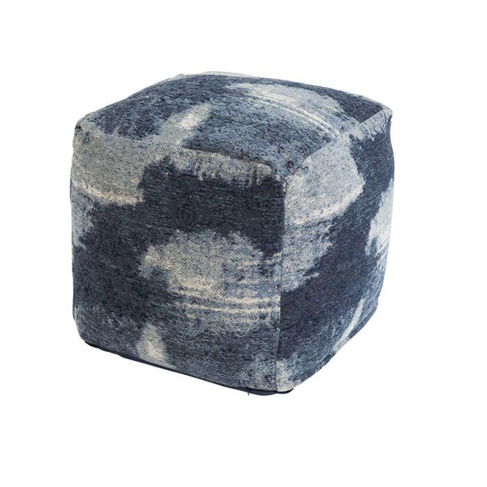 Vintage-vierkant-poefje-blauw-45-x-45-x-45cm---Puri