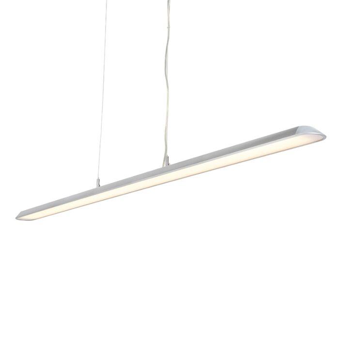 Moderne-langwerpige-hanglamp-zilver-160cm-incl.-LED---Duct-S