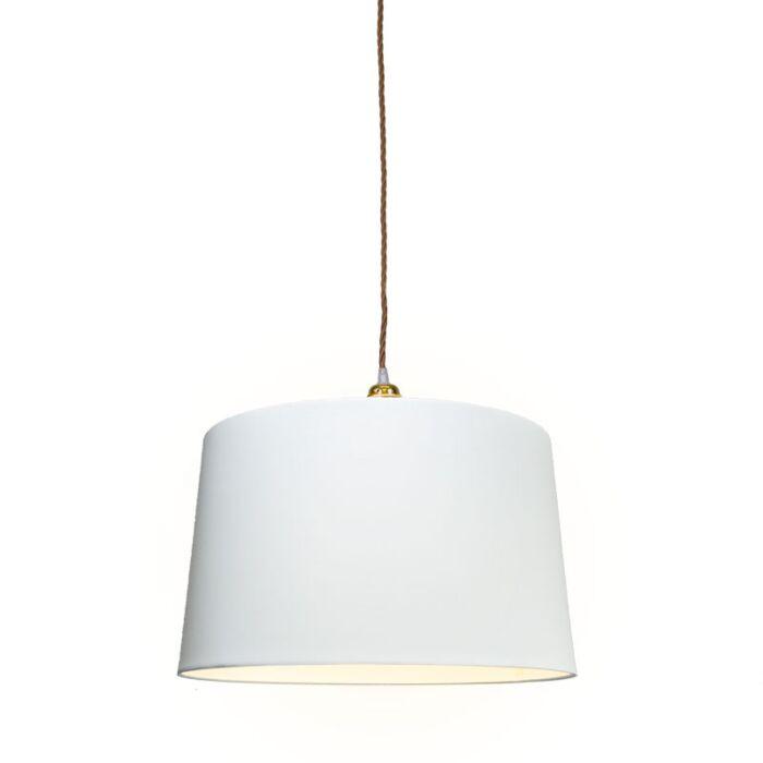 Hanglamp-Cavo-Classis-goud-bruin-met-kap-45cm-wit