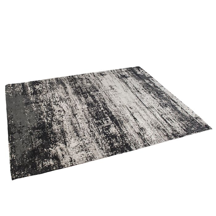 Vintage-rechthoekig-vloerkleed-zwart/beige-160-x-230cm---Kochi