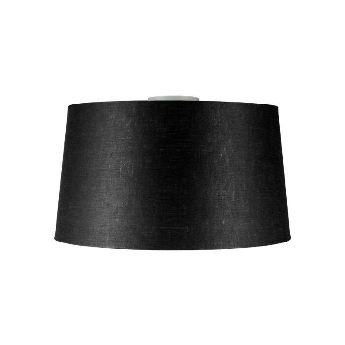 Moderne-plafondlamp-wit-met-zwarte-kap-45-cm---Combi