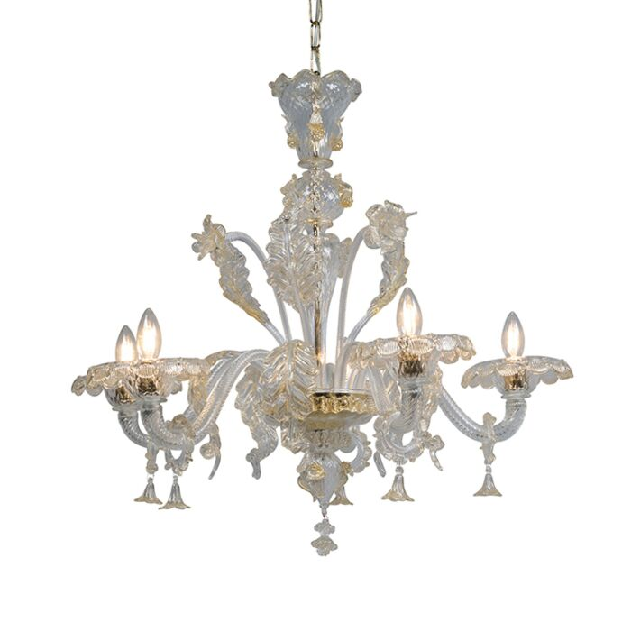 Kroonluchter-Accademia-5-Up-kristal-met-goudaccenten