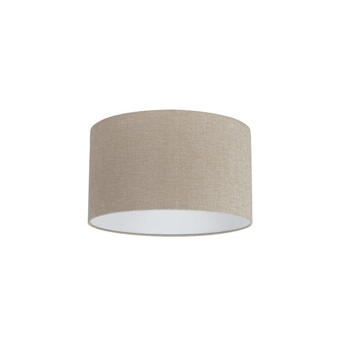 Stoffen-lampenkap-lichtbruin-35/35/20