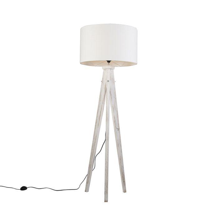 Vloerlamp-Karos-wit-met-kap-55cm-wit