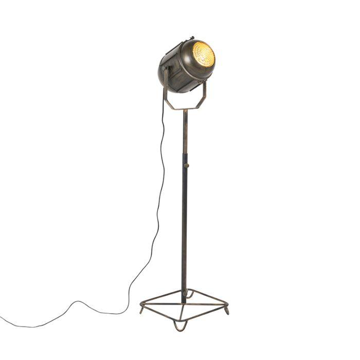Industriële-vloerlamp-brons-140-cm---Broca