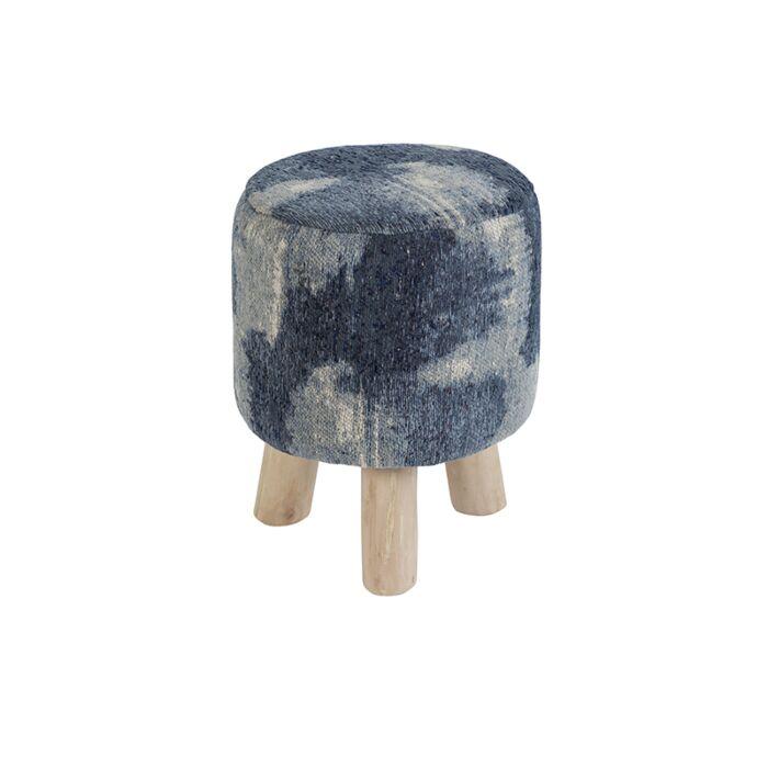 Vintage-rond-krukje-blauw-30-x-30-x-40cm---Puri