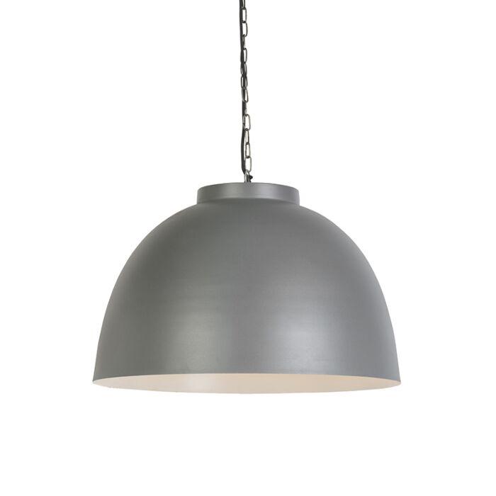 Industriele-hanglamp-60cm-grijs-met-witte-binnenkant---hoodi