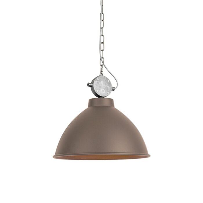 Industriële-hanglamp-bruin---Anterio-38