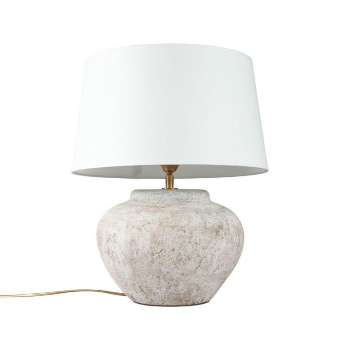 Tafellamp-Palma-XS-scotch-met-kap-35cm-wit