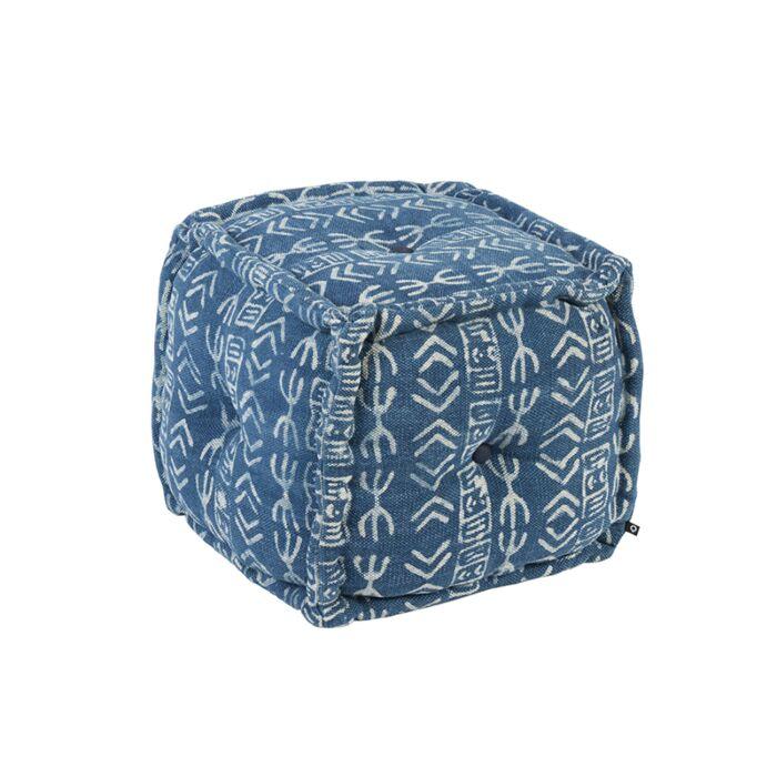 Oosterse-vierkante-poef-40x40cm-blauw---Varanasi